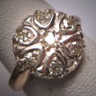 Antique Diamond Wedding Ring Band Victorian Mine Single Cut 1900s