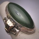Antique Jade Ring Gold Filigree Vintage Art Deco Victorian 1920