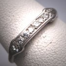Antique Diamond Wedding Band Ring Granat Brothers 18K Vintage Art Deco c.1920