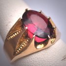 Antique Garnet Ring Georgian Victorian Rolled Gold Wedding - Band 1800s