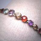 Antique Gemstone Bracelet Vintage Victorian Sapphire Garnet Aquamarine Tourmaline