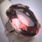 Antique Amethyst French Paste Ring Art Deco Retro 1920