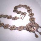 Antique Silver Wreath Necklace Oaxaca Mexican Vintage Art Deco 1930