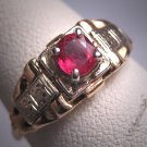 Antique Ruby Wedding Ring Vintage Art Deco 14K Gold 1920
