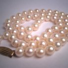Vintage Mikimoto Pearl Necklace 14K 18inch Akoya Signed