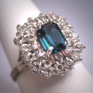 Antique Sapphire French Paste Ring Vintage Art Deco Era 1930 Wedding