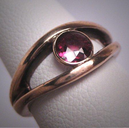 Antique Victorian Rhodolite Garnet Ring Wedding Vintage 19th Century Rose Gold