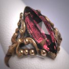 Antique Czech Amethyst Ring Vintage Art Deco Victorian c.1910
