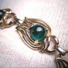Antique Emerald Paste Bracelet Vintage Art Deco 1930