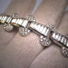 Antique Art Deco Diamond Paste Bracelet Vintage 1920s Link