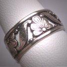 Antique Wedding Band Vintage Art Nouveau Eternity Ring 6