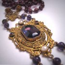 Superb Antique Victorian Amethyst Pearl Necklace Victorian Art Deco Czech c.1900 Wedding