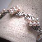 Rare Antique Mikimoto Pearl Bracelet Vintage Art Deco 5mm SS Wedding Bridal w/ Original Box