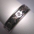 Antique Wedding Band Vintage Art Nouveau Eternity Ring Uncas c.1900 9