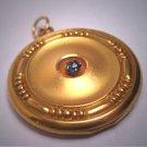 Antique Ceylon Blue Sapphire Locket Pendant Vintage Victorian Gold 1890