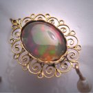 Rare Antique Opal Earrings Victoiran Edwardian 12CT Gold Filigree 1920