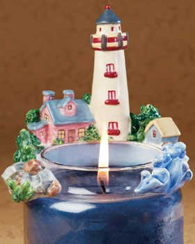 Lighthouse Candle Hug