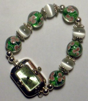 Gorgeous Green Lampworks Watch