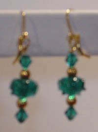 Aquamarine Lampworks earrings