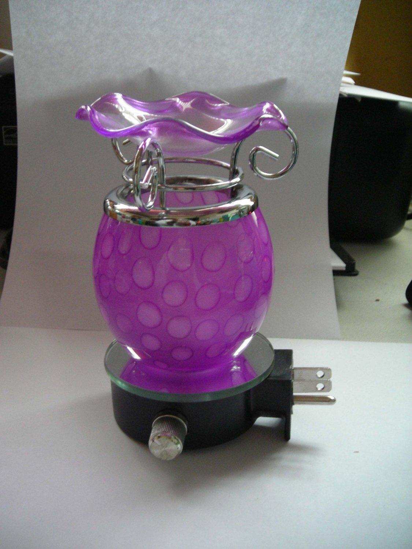 Purple Glass PLUG IN Nightlight TART WARMER