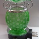 Green Glass PLUG IN Nightlight TART WARMER