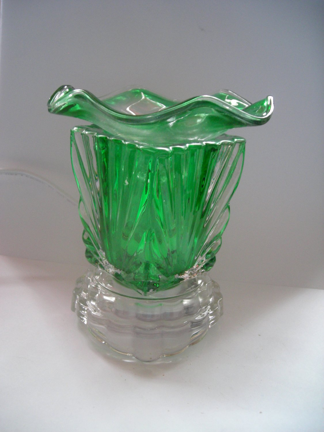 Green 260 ELECTRIC Wax OIL WARMER Crystal ELECTRIC OIl