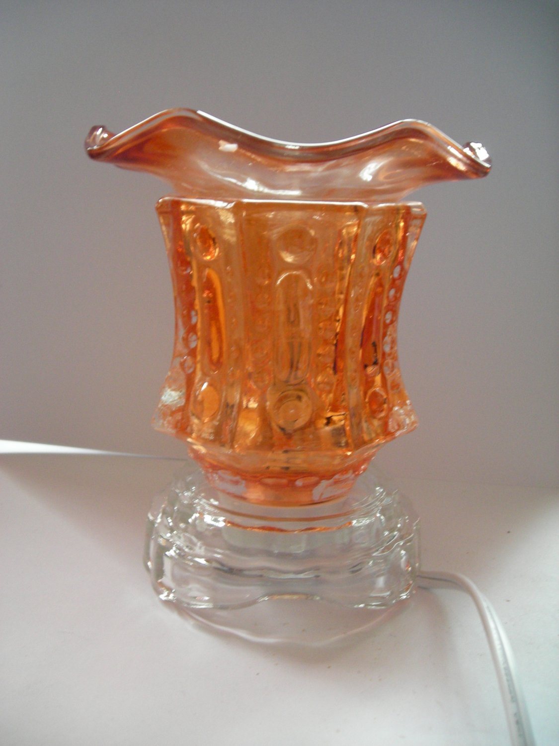 Orange 218 ELECTRIC Wax OIL WARMER Crystal ELECTRIC OIL