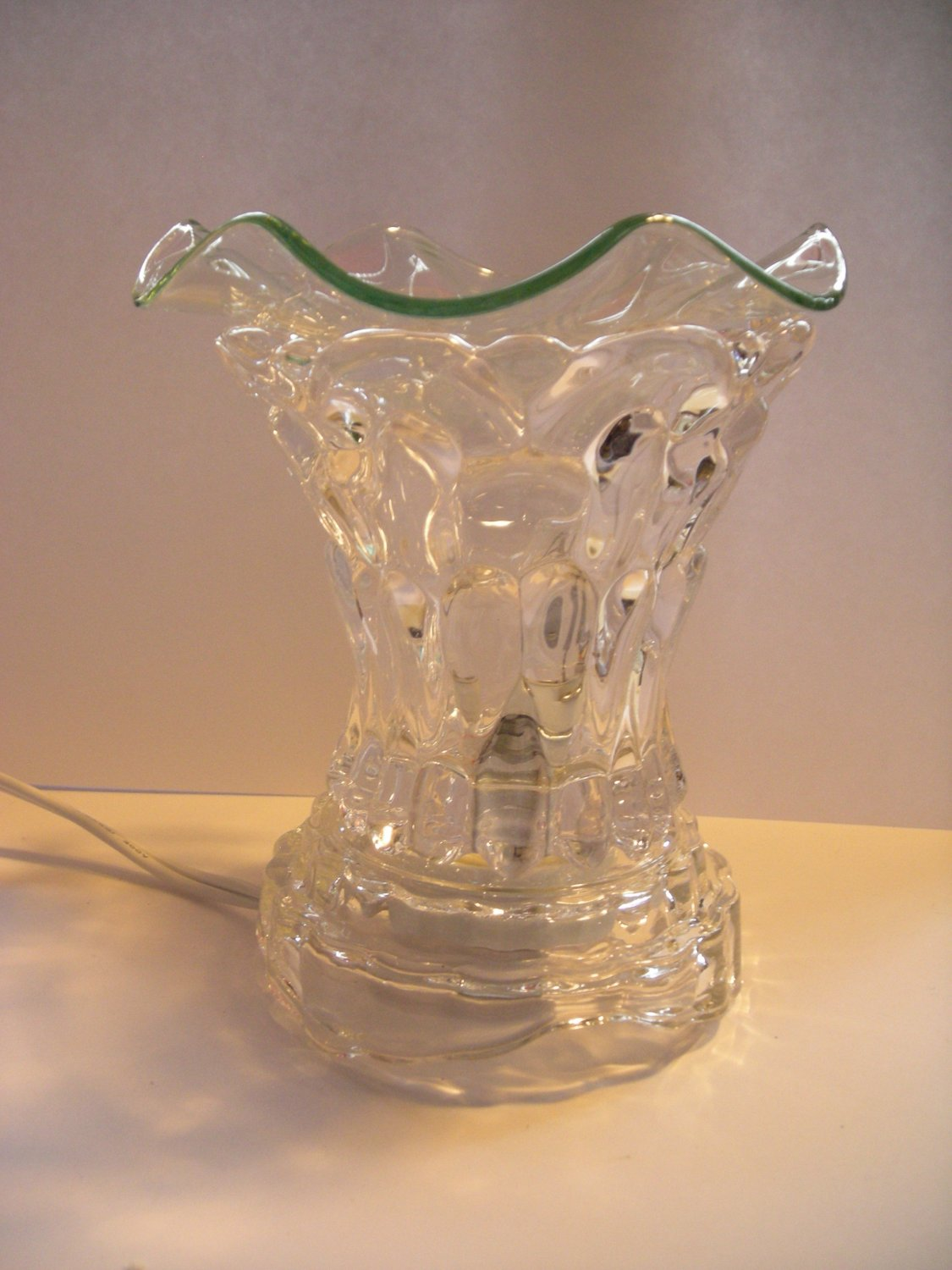 Clear Dimple Crystal ELECTRIC OIL WARMER