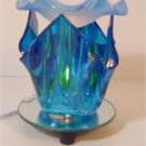 Blue Artsy Glass ELECTRIC OIL WARMER