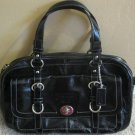 Coach Chelsea Patent Leather Satchel Handbag Black 14030