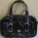 Coach Chelsea Patent Leather Satchel Handbag Black 14030