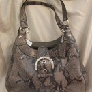 BRAND NEW COACH SOHO EMBOSSED EXOTIC HOBO PYTHON HANDBAG TOTE PURSE