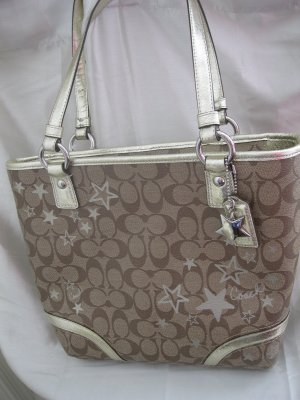 BRAND NEW COACH HERITAGE STAR PRINT TOTE - Style #18853