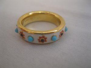 Coach Brand New Poppy Gold Flower Ring Size 6 #95493