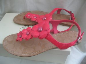 Coach Poppy Pink flower Flats Sandals - Size 9.5