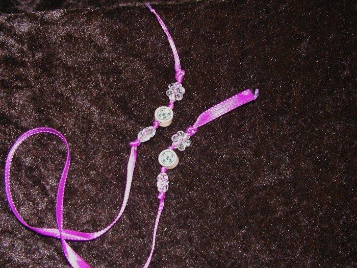 Ribbon Bookmark - Purple Butterflies