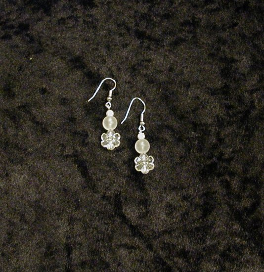 Lily White: Earrings - Short Length