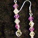 Orchid Hearts: Earrings