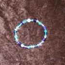 Blue Glass Bead Bracelet: Stretch