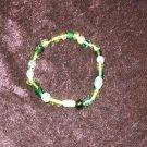Green Glass Bead Bracelet: Non-Stretch