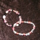 Pink Glass Bead Bracelet Collection: Non-Stretch