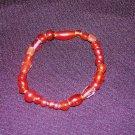 Red Glass Bead Bracelet: Stretch