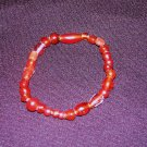 Red Glass Bead Bracelet: Non-Stretch