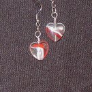 Swirl Heart Drop Earrings
