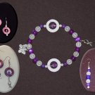 Circles of Hope Full Set: Bracelet (Stretch) and Earrings