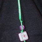 Ribbon Bookmark - Purple Butterfly Squares