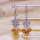 Celtic Knot Earrings - Topaz
