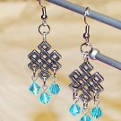 Celtic Knot Earrings - Aqua