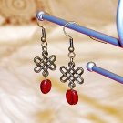 Celtic Knot Earrings - Burgundy