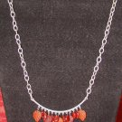 Burgundy & Copper Leaves: Necklace